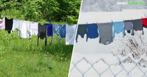 Raus mit dem Wäscheständer! Beim Trocknen an der frischen Luft wird die Wäsche herrlich weich und du sparst Geld und Platz - sogar im Winter!