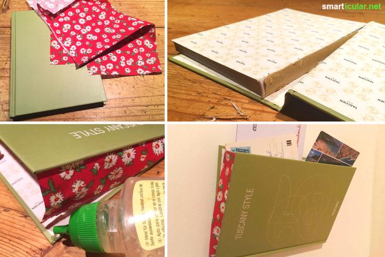 Aussortierte Bücher sind nur selten ein Fall für die Altpapiertonne! Du kannst sie verschenken, verkaufen oder neue, nützliche Dinge daraus basteln.