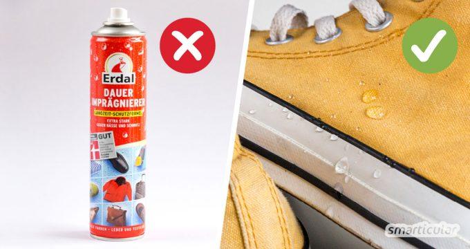 Schuhe zu imprägnieren, gelingt effektiv mit Hausmitteln wie Kerzenwachs. So sparst du dir teure Imprägniersprays für Schuhe aus Stoff und Veloursleder.