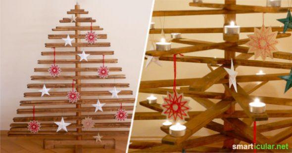 bauanleitung f r einen faltbaren christbaum aus holz. Black Bedroom Furniture Sets. Home Design Ideas