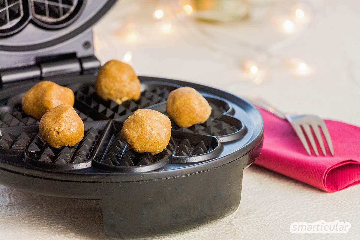 Vergiss den Backofen: Köstliche Weihnachtsplätzchen gelingen innerhalb einer Minute im Waffeleisen!