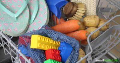 Deine Spülmaschine kann mehr als nur Geschirr spülen: Diese 13 ungewöhnlichen Dinge können ebenfalls im Geschirrspüler gereinigt, zubereitet oder eingemacht werden!