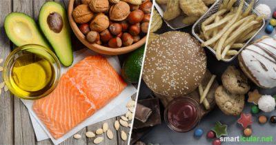 Fett ist nicht gleich Fett! Wie du schlechte Fette meidest und deinen Körper mit der richtigen Kombination aus gesunden Fetten versorgen kannst, erfährst du hier.