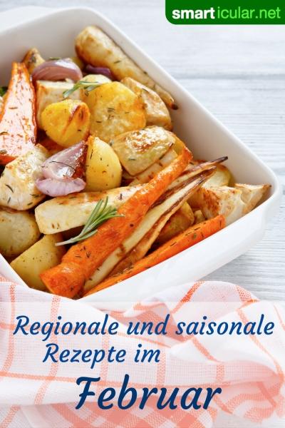 Im Februar sind nur wenige regionale Früchte frisch erhältlich, trotzdem kannst du dich gesund und abwechslungsreich ernähren. Probiere doch mal diese Rezepte aus!