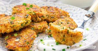 Vegetarische Nuggets als gesunde Alternative zu Chicken Nuggets lassen sich ganz leicht selber machen, mit diesem Rezept für Quinoa-Nuggets!