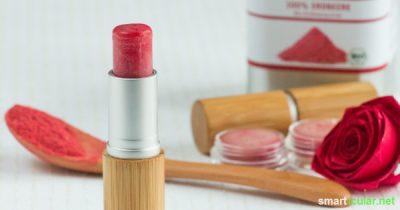 Valentinstagsgeschenke müssen nicht teuer sein! Wie wäre es zum Beispiel mit einem selbst gemachten Lippenbalsam, der von Herzen kommt?