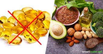 Gesunde Omega-3-Fettsäuren erhältst du nur durch Fisch? Stimmt nicht! Diese rein pflanzlichen Lebensmittel sind wahre Omega-3-Fettsäure-Bomben.