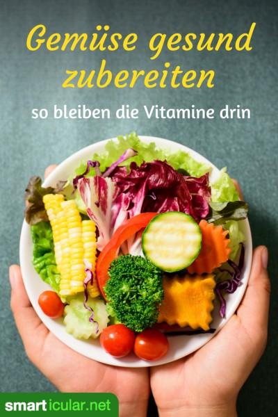 In Gemüse steckt viel Gutes - solange man es nicht totkocht. Mit Rohkost und schonenden Garmethoden kannst du die Nährstoff-Vielfalt optimal ausschöpfen.