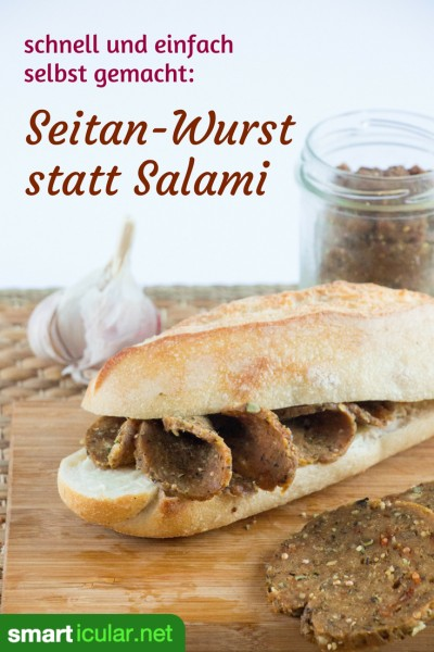 pflanzliche salami alternative veganes rezept mit seitan. Black Bedroom Furniture Sets. Home Design Ideas