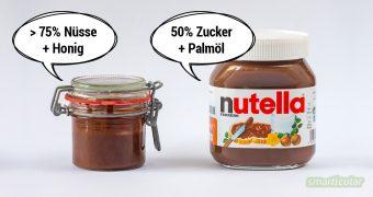 Nutellaverzicht muss nicht sein. Mit diesem Rezept kannst du aus nur drei Zutaten eine gesunde Schokocreme selbst herstellen. In nicht mal einer Minute!