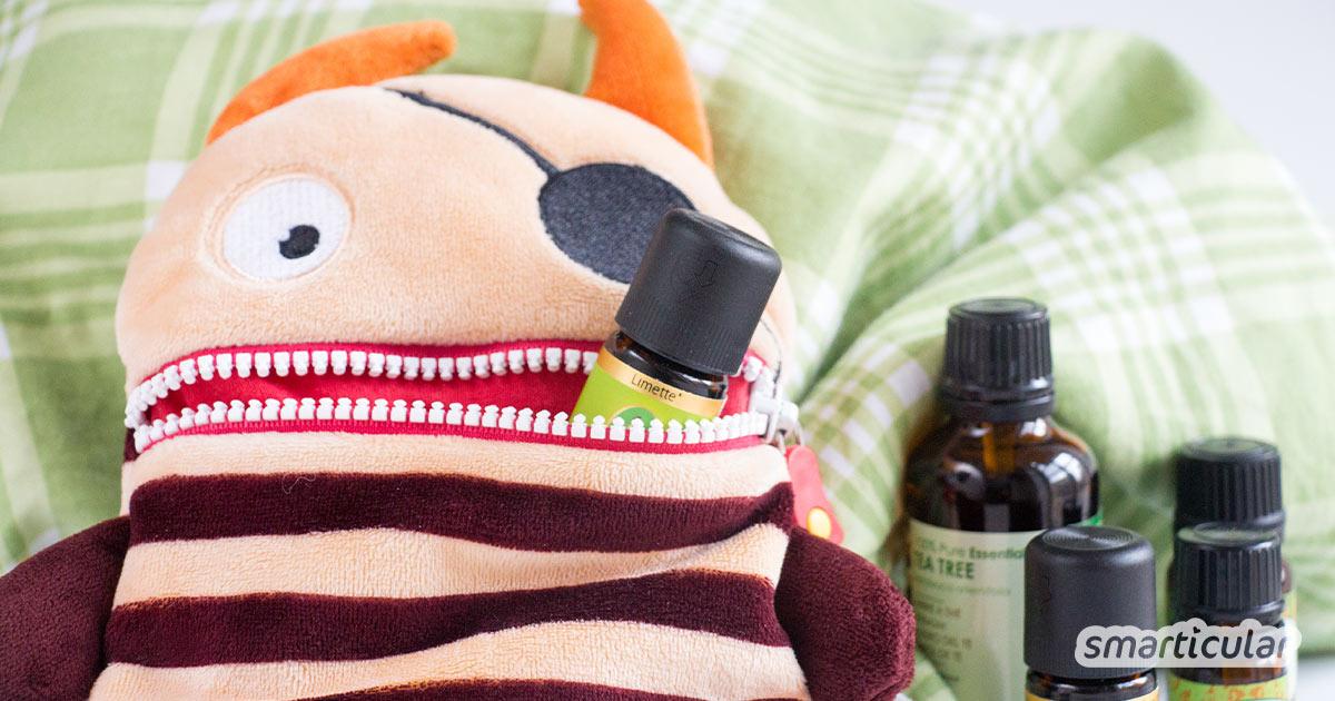 Ätherische Öle können vielfältige Alltagsleiden bei Kindern lindern. Hier erfährst du, wie du sie kindgerecht dosierst und welche Einsatzmöglichkeiten es gibt.