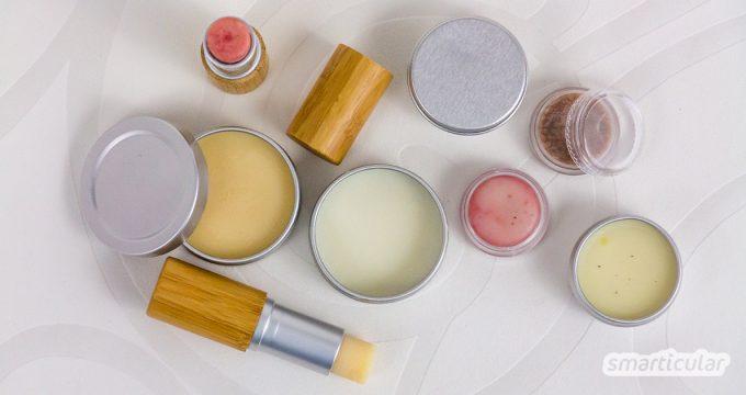 Lippenbalsam lässt sich in vielen Varianten zum Pflegen und Heilen ganz natürlich selber machen - ohne Zusatz- und Konservierungsstoffe.