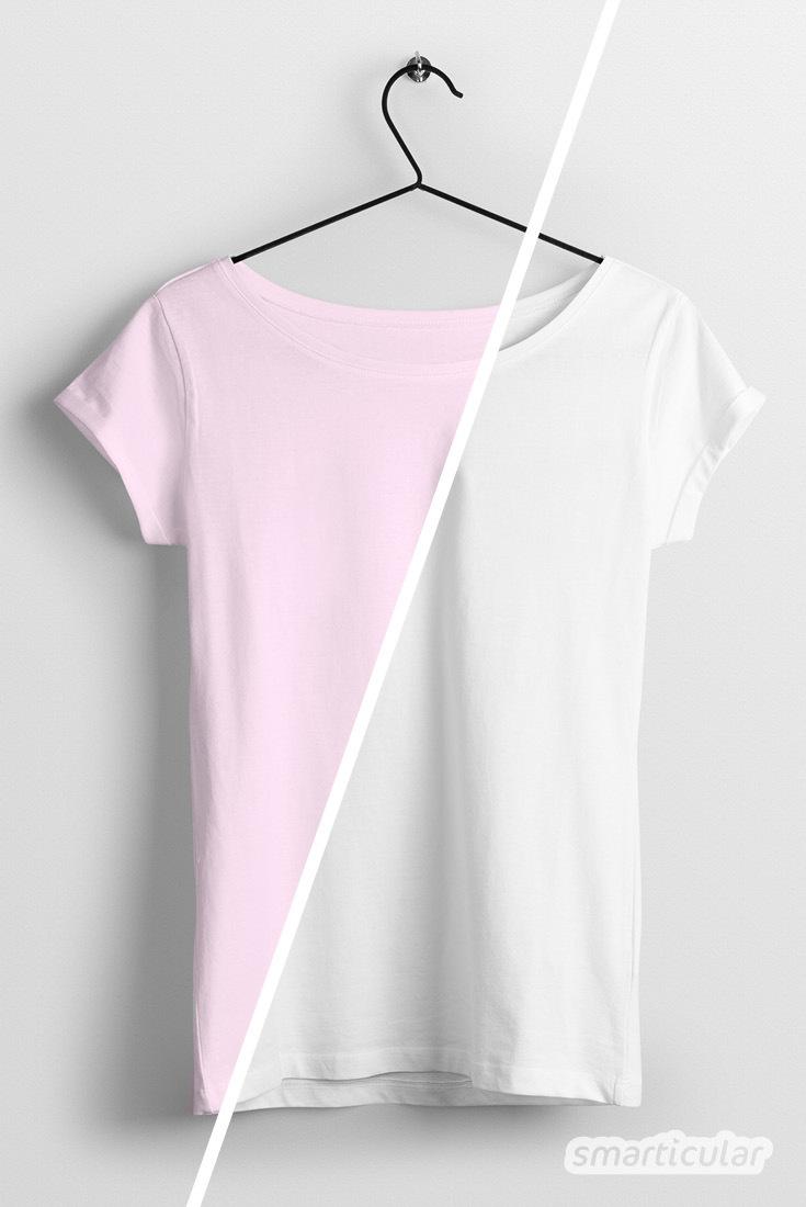 Mit diesen Hausmitteln kannst du Verfärbungen der Kleidung vermeiden und teure aber wirkungslose Einweg-Farbfangtücher ersetzen.
