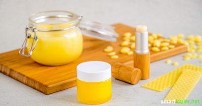 Bienen lassen ihren Wachs im Herbst als Abfall zurück, dabei lässt sich der Baustoff in Haushalt und Pflege vielfältig verwenden! Mit diesen Rezepten kannst du das Naturprodukt verarbeiten.