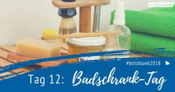 Du hast viel zu viele Produkte in deinem Badezimmerschrank? Nicht mehr nach Tag 12 der Blitzblank-Challenge! Heute werden Hygieneartikel ausgemistet.