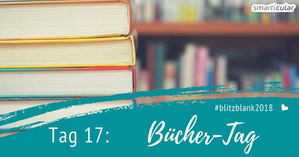 Das Bücherregal ist ein Ort, der gerne mal verstaubt. Heute erwecken wir es aus dem Winterschlaf und sorgen für Ordnung und Sauberkeit!