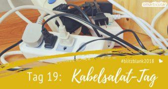 Aufräumtipp: Mit einem neuen Ordnungssystem für Kabel und andere Elektrokleinteile gehört ewiges Suchen im verhedderten Kabelsalat der Vergangenheit an.