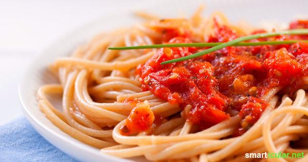 Spaghetti Bolognese mal anders: in diesen leckeren Rezepten sorgt anstatt Fleisch reichlich Gemüse für volles Aroma und unwiderstehlichen Genuss!