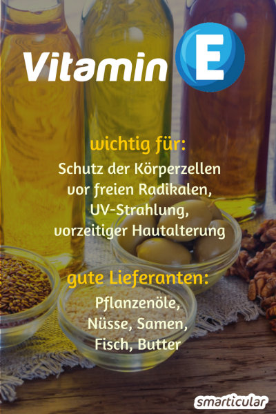 Vitamin E ist essentiell für eine gesunde, gut geschützte Haut! Was es alles kann und wie du genug davon zu dir nimmst, erfährst du hier.