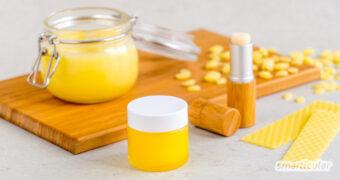 Bienenwachs lässt sich im Haushalt und zur Körperpflege vielfältig verwenden! Mit diesen Rezepten kannst du das Naturprodukt verarbeiten.