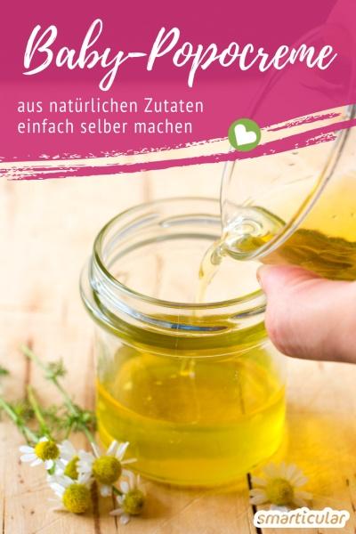 Windelcreme enthält häufig Erdöl oder Parfüm, das die dünne, empfindliche Babyhaut unnötig reizt. Eine natürliche Alternative kannst du ganz leicht selber machen!