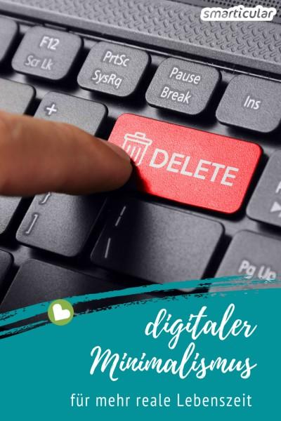 Nicht nur materielles Ausmisten, sondern auch das Entrümpeln digitalen Mülls macht das Leben leichter. Mit diesen Tipps schaffst du mehr reale Lebenszeit!