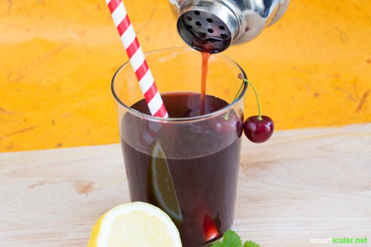 Diese fünf bunten Saftcocktails mit regionalen Zutaten sind alkoholfrei, gesund, nachhaltig und sogar für Kinder eine tolle Erfrischung!
