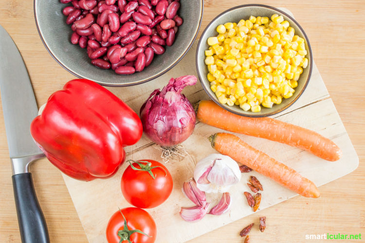 chili sin carne ohne soja
