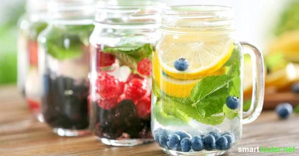 Lust auf eine Erfrischung? Diese Kreationen aus Wasser und frischen Früchten löschen deinen Durst auf natürliche Weise und sind dabei auch noch richtig gesund.