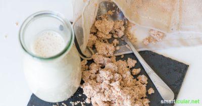 Wer regelmäßig Pflanzenmilch selbst herstellt, weiß oft nicht wohin mit den Mix-Resten. Mit diesen Tipps und Rezepten kannst du das vermeintliche Abfallprodukt sinnvoll weiterverwerten!