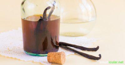 Statt Vanillinzucker oder teures Vanillearoma aus dem Supermarkt zu verwenden, kannst du ein natürliches, flüssiges Extrakt mit echter Vanille selber machen.