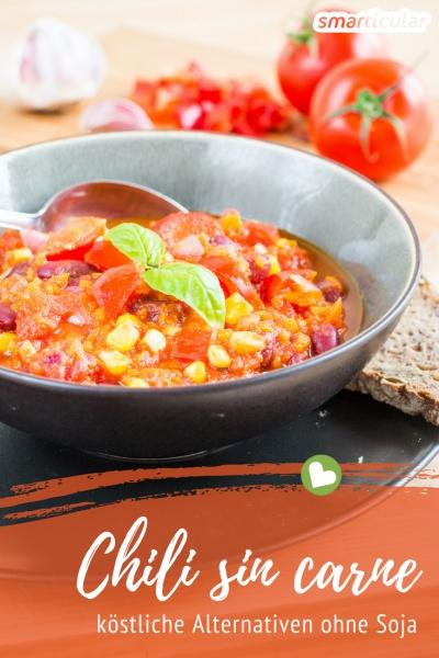 Das klassische Chili sin carne wird meist mit Soja zubereitet, obwohl es viele regionale Alternativen gibt. Der folgende Beitrag stellt dir drei köstliche Varianten vor!