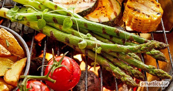 Statt dich mit Einweggeschirr oder Spülbergen herumzuärgern, kannst du deine Grillparty müllfrei und bequem gestalten, wenn du Fingerfood vom Grill anbietest!