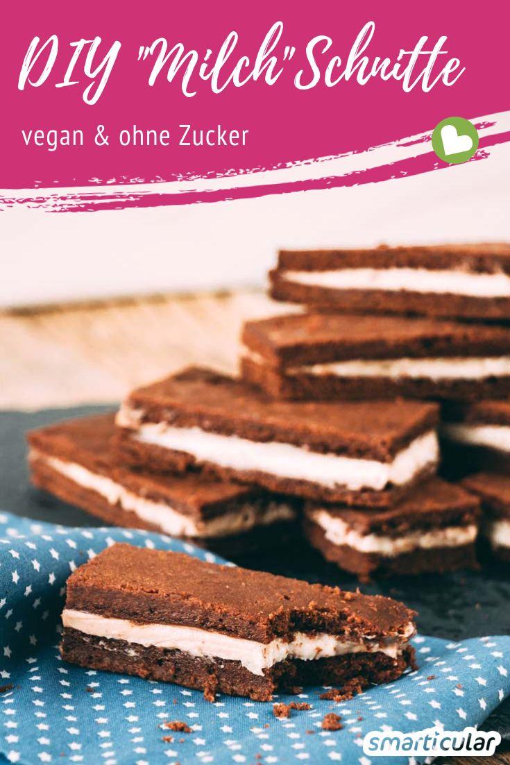 Wer gern Milchschnitte isst, aber auf Verpackungsmüll, Zusatzstoffe und tierische Bestandteile verzichten möchte, wird diese gesündere, vegane Alternative lieben!