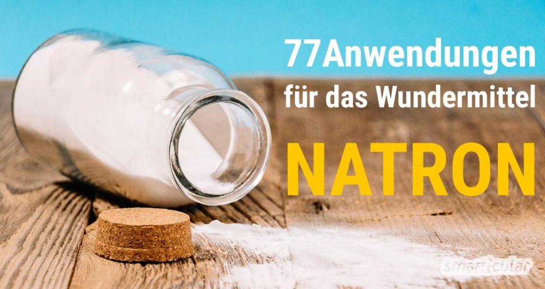 Was ist Natron, wie wirkt es und wie kannst du es nutzen? Die Antworten und Rezepte für Natron-Deos, Waschmittel, Allzweckreiniger und mehr findest du hier!