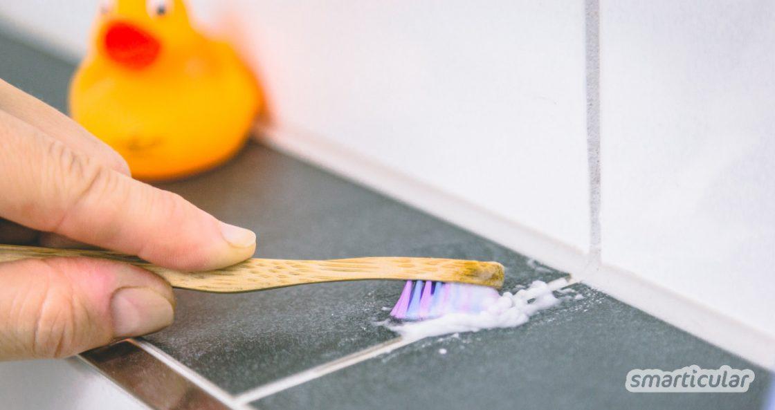 Verfärbte oder unansehnliche Fugen lassen das Bad schnell schmuddelig aussehen. Mit einfachen Hausmitteln kannst du sie wieder zum Strahlen bringen - umweltfreundlich und preiswert!