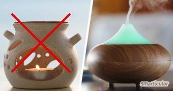 Warum Duftlampen und Duftkerzen gesundheitlich bedenklich sein können und was du stattdessen zur Raumbeduftung verwenden kannst, erfährst du hier.