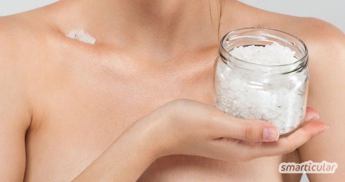 Salz und Wasser - mehr als diese beiden Substanzen sind für eine umweltfreundliche und nachhaltige Körper- und Zahnpflege, gegen kleine Verletzungen sowie fürs Styling meistens nicht nötig.