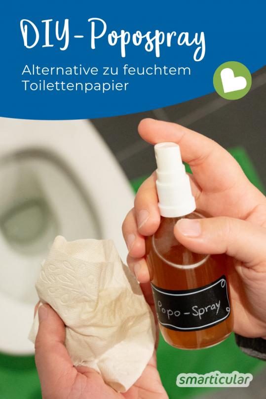 Die Alternative zu feuchtem Toilettenpapier: Das DIY-Popospray schont die Umwelt, ist hautfreundlich und lässt sich außerdem preiswert und einfach selber machen.