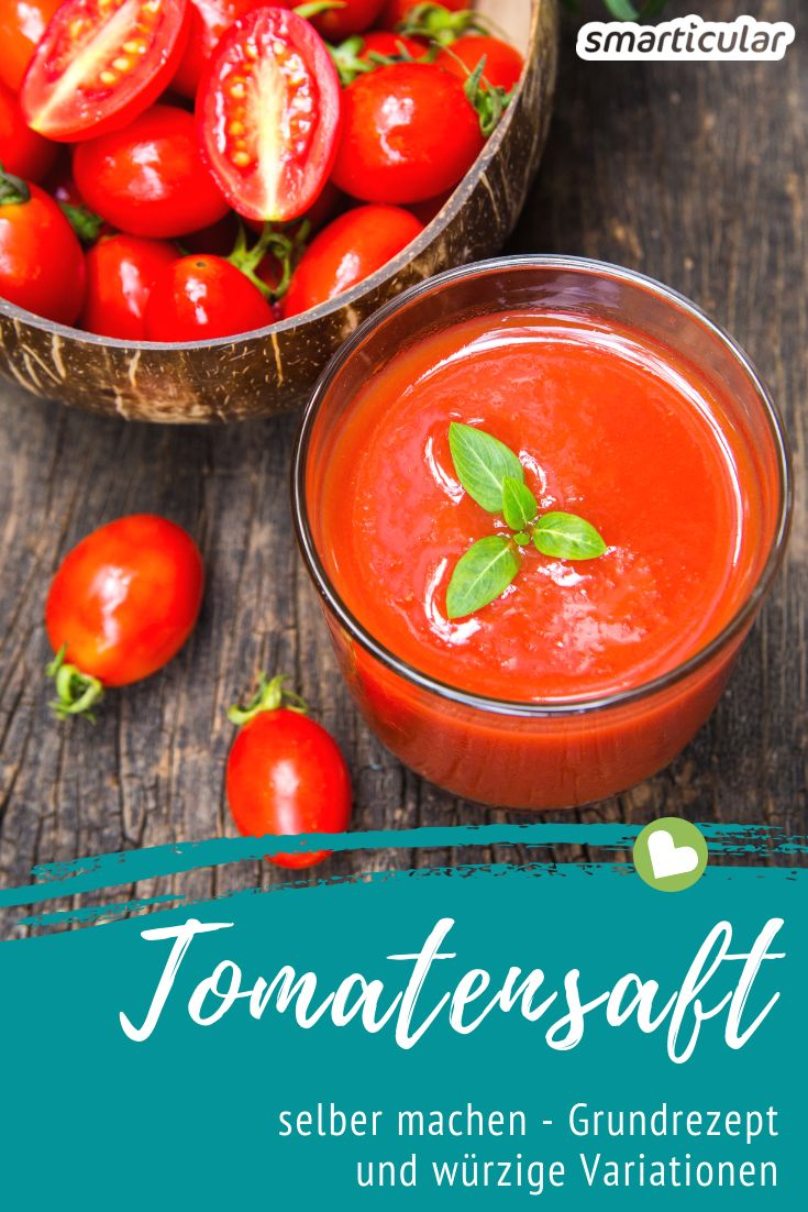 Tomatensaft ist nicht nur sehr aromatisch, sondern lässt sich auch kinderleicht herstellen. Mit diesem Rezept wird die reiche Ernte zu Saft!