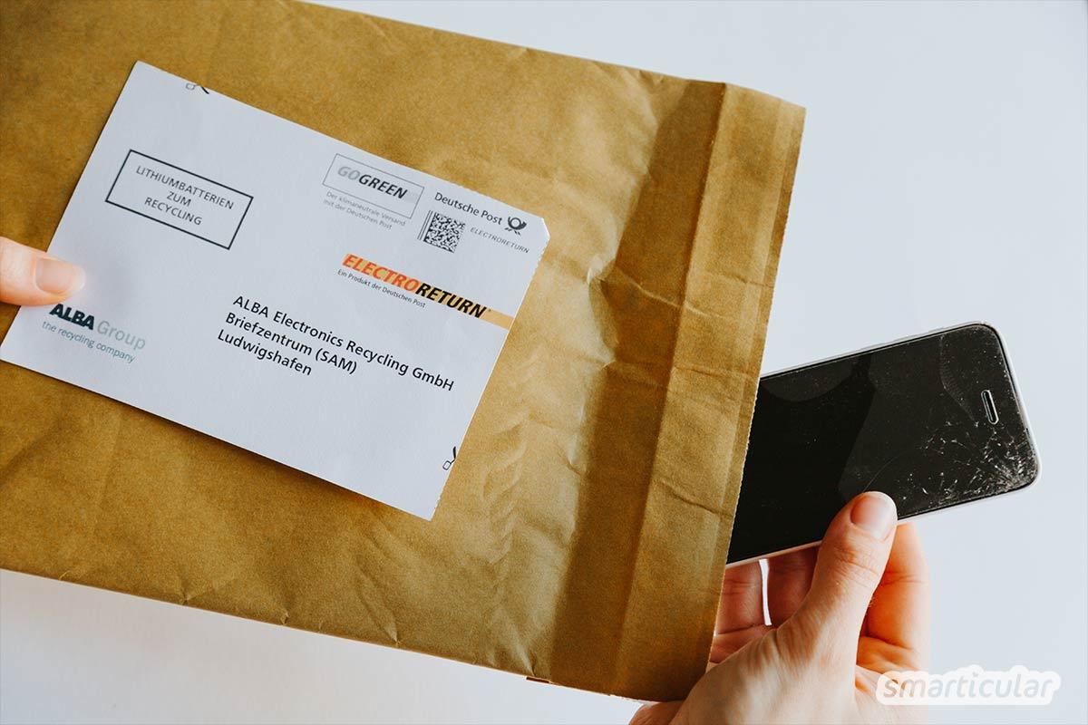Defekte Elektrokleingeräte enthalten wertvolle Rohstoffe und gehören deshalb nicht in die Restmülltonne! Mit dem kostenlosen Electroreturn-Service der Deutschen Post kannst du sie bequem über den nächsten Briefkasten entsorgen.