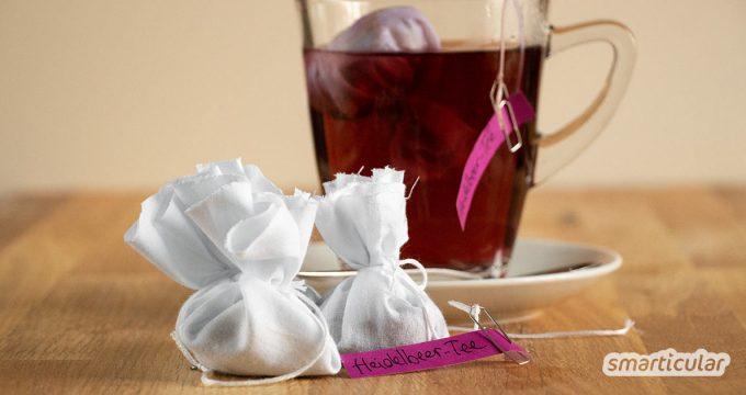 Diese selbst gemachten Teebeutel ohne Nähen sind ideal als kleiner Gruß aus der Küche oder als Füllung für den Adventskalender. Sie sind so einfach gemacht, dass auch Kinder mitbasteln können!