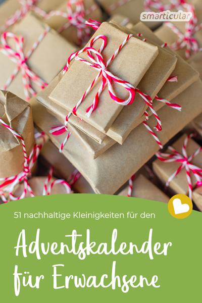 Suchst du nachhaltige Kleinigkeiten für den Adventskalender? Hier findest du einfache DIY-Ideen, Geschenke aus der Küche und kleine Produkte.