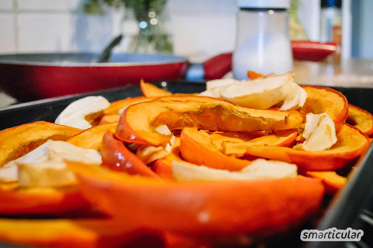 Kürbis gibt es den ganzen Winter über regional. Wenn du keine Lust mehr auf Suppe hast, dann versuche es doch mal mit diesen köstlichen Kürbis-Frikadellen!
