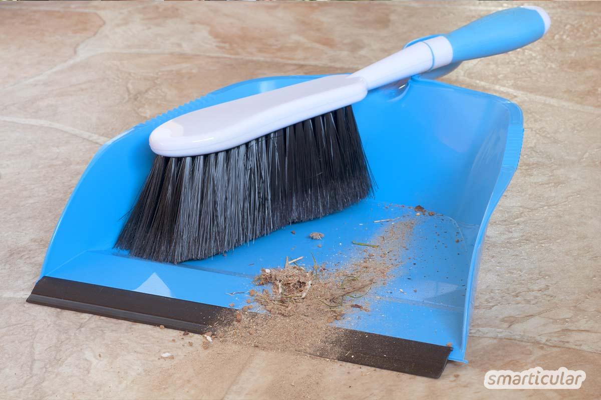 Um Natursteinböden von Schmutz zu befreien, ohne sie zu beschädigen, sind keine Spezialmittel notwendig. Einfache, preiswerte Hausmittel und ein bisschen Know-how funktionieren genauso gut.