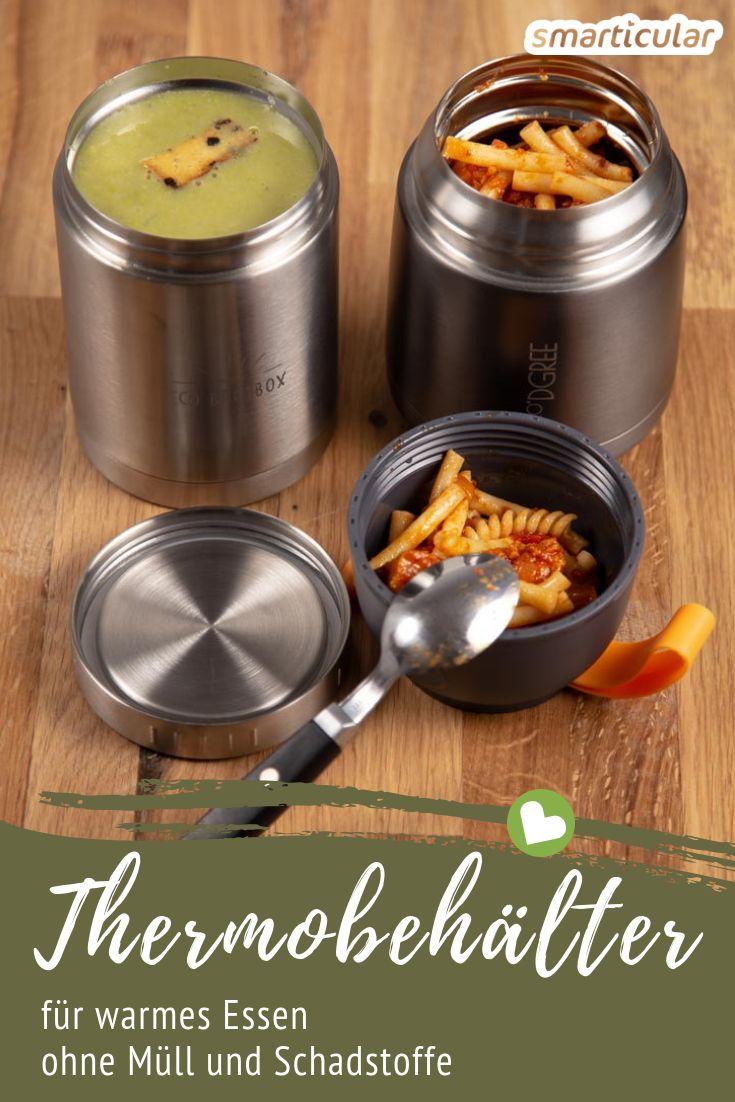 Warmes Essen von zu Hause mitzubringen oder den Imbiss ins Mehrweg-Gefäß abfüllen zu lassen, spart viel Müll ein. Hier findest du die besten Thermoboxen für dein Essen-to-go!