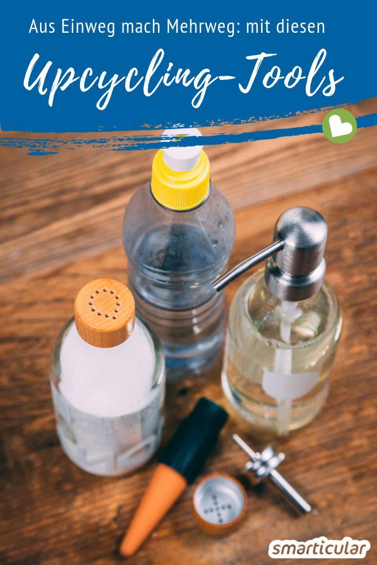 Jede herkömmliche Flasche lässt sich mit praktischen kleinen Adaptern in einen nützlichen Mehrweg-Gegenstand verwandeln. Hier findest du die besten Produkte!