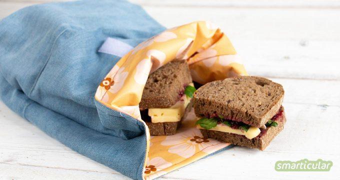 Jeden Tag eine neue Papiertüte beim Bäcker mitnehmen und nach dem Essen wegwerfen? Mit einer selbst genähten Lunchbag werden Brote und Proviant ganz ohne Müll transportiert.