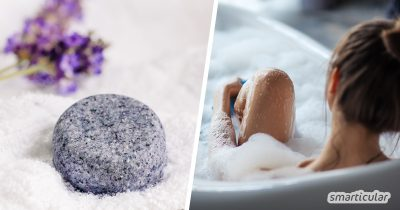 Vergiss flüssigen Badezusatz aus dem Supermarkt: Mit diesem einfachen Rezept für Badepralinen bereitest du dein Schaumbad (fast) abfallfrei und mit natürlichen Zutaten zu.