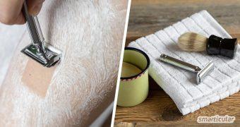 Mit den folgenden Tipps wird deine Bart- bzw. Achsel- und Beinrasur umweltfreundlicher und natürlicher. Das spart nicht nur Plastikmüll, sondern schont auf Dauer auch deinen Geldbeutel.